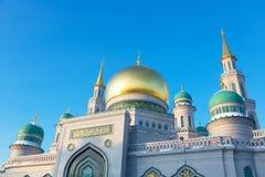 Grote Kathedraalmoskee in Moskou Stock Foto's