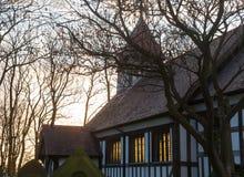 Grote kerk Altcar bij zonsondergang Royalty-vrije Stock Afbeelding