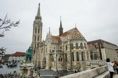 Grote kerk in Boedapest, Hongarije stock afbeeldingen