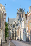 Grote Kerk church, the main attraction of Dordrecht. Stock Image