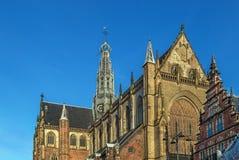 Grote Kerk, Haarlem, Nederland Stock Fotografie