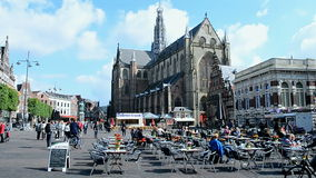 Grote Kerk (Large Church) on the Grote Markt,Haarlem, Netherlands, Stock Photos
