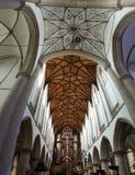 Grote Kerk or St. Bavokerk in Haarlem  Stock Photos