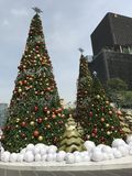 Grote Kerstbomen Stock Afbeeldingen