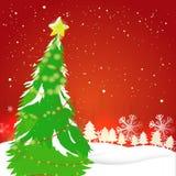 Grote Kerstmisboom voor Kerstmisviering Royalty-vrije Stock Fotografie