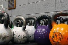 Grote Kettlebell-Gewichten royalty-vrije stock afbeeldingen