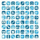 Grote kleuren medische pictogrammen Stock Afbeelding