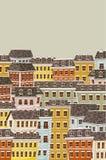 Grote kleurrijke stad Stock Afbeeldingen
