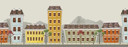 Grote kleurrijke stad Royalty-vrije Stock Afbeeldingen
