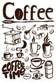Grote koffiereeks Royalty-vrije Stock Foto