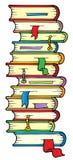 Grote kolom van boeken Royalty-vrije Stock Afbeeldingen