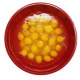 Grote Kom van Gebarsten Eieren stock foto's