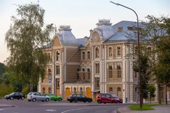 Grote koorsynagoge Grodno stock afbeeldingen