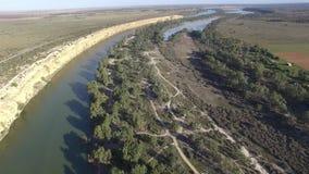 Grote Kromming op Rivier Murray dichtbij Nildottie stock footage
