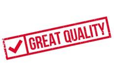 Grote Kwaliteits rubberzegel Stock Foto's
