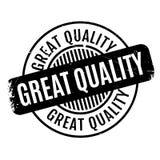 Grote Kwaliteits rubberzegel Stock Afbeeldingen