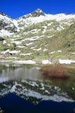 Grote lagune in de berg van Gredos ` s Royalty-vrije Stock Foto's