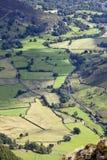 Grote langdale in meerdistrict Engeland Stock Foto's