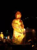 Grote lantaarn van een mens Royalty-vrije Stock Foto's