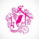Grote leuke aardige vogel Royalty-vrije Stock Afbeeldingen