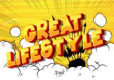 Grote Levensstijl - de Grappige woorden van de boekstijl vector illustratie