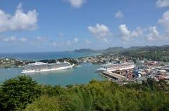 Grote Lijnboten in Hoofdstad van St Lucia Royalty-vrije Stock Afbeelding