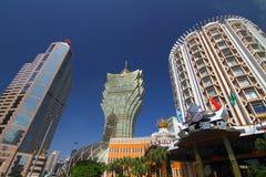 Grote Lissabon en Skycraper Macao Royalty-vrije Stock Afbeelding