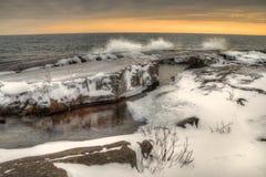 Grote Marais is een kleine Havenstad op de het Noordenkust van Meermeerdere in Minnesota royalty-vrije stock afbeelding