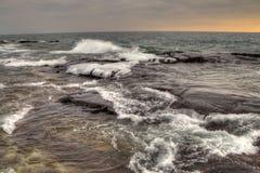 Grote Marais is een kleine Havenstad op de het Noordenkust van Meermeerdere in Minnesota royalty-vrije stock foto's