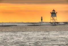 Grote Marais is een kleine Havenstad op de het Noordenkust van Meermeerdere in Minnesota royalty-vrije stock afbeeldingen