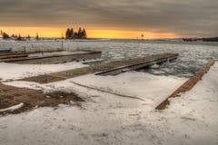Grote Marais is een kleine Havenstad op de het Noordenkust van Meermeerdere in Minnesota stock afbeelding