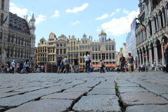 Grote Markt在布鲁塞尔 免版税库存照片
