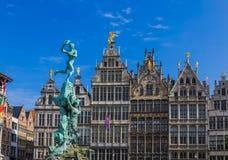 Grote Markt à Anvers - en Belgique Image libre de droits