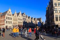 Grote Markt в Антверпене, Бельгии стоковые изображения rf