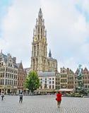The Grote Markt in Antwerp Stock Images