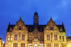 Grote Markt architecture in Ypres Royalty Free Stock Image
