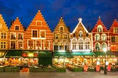 Grote Markt, Bruges, Belgien Royaltyfria Bilder