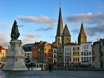 Grote Markt, Brugge stock foto