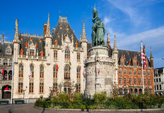 Grote Markt, Brujas, Flandes Fotos de archivo