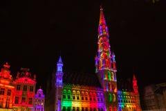 Grote Markt - der Hauptplatz und das Rathaus von Brüssel Stockfoto