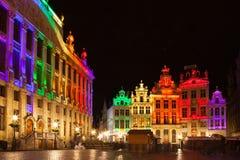 Grote Markt - der Hauptplatz und das Rathaus von Brüssel Lizenzfreie Stockfotos