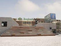 Grote Markt en Groninga en nieve Foto de archivo libre de regalías