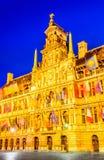 Grote Markt i Antwerp, Belgien Arkivbilder