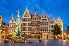 Grote Markt i Antwerp, Belgien Fotografering för Bildbyråer
