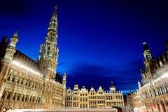 Grote Markt i Bryssel, Belgien royaltyfria foton