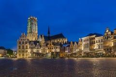 Grote Markt i Mechelen - Belgien royaltyfri foto
