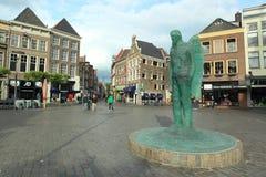Grote markt i Zwolle Arkivfoton