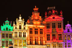 Grote Markt - The main square and Town hall of Brussels. Belgium Stock Image