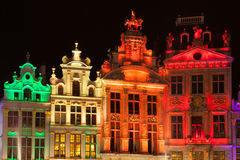 Grote Markt - The main square and Town hall of Brussels Royalty Free Stock Photography