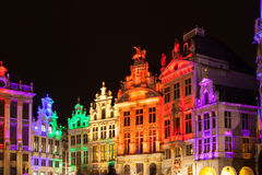 Grote Markt - The main square and Town hall of Brussels Royalty Free Stock Image